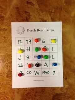 Beech Road Bingo