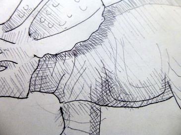 close up of drawing