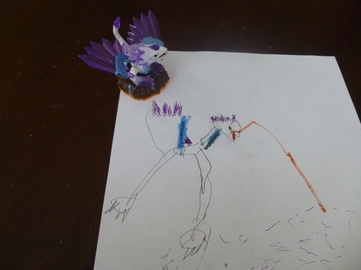 a kid's drawing of a toy
