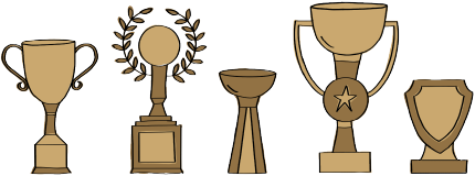 Illustration of trophies